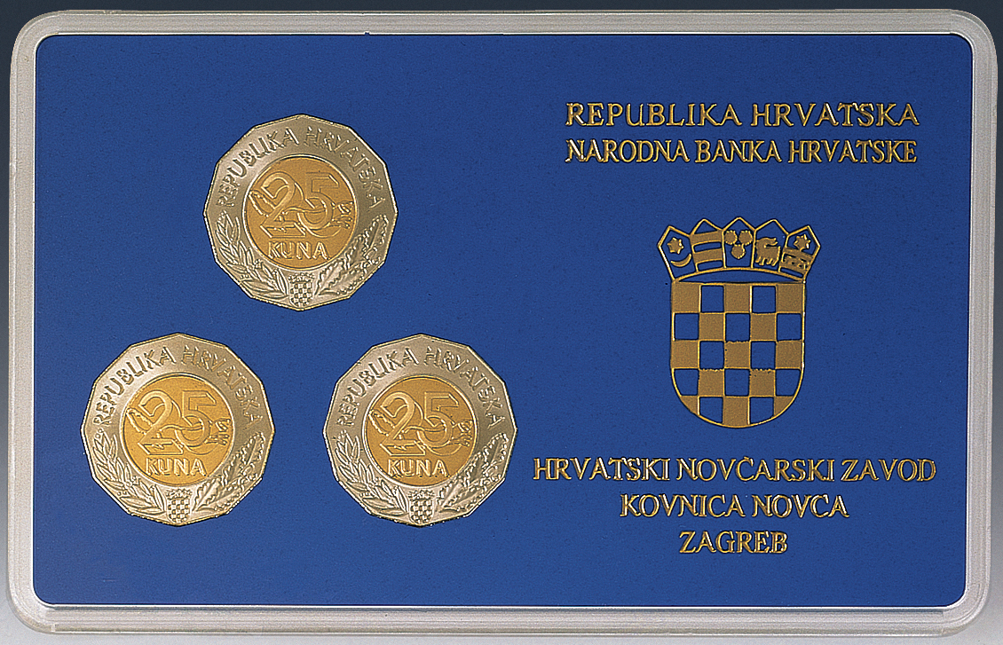 Numismatic Sets of Commemorative 25 Kuna Circulation Coins